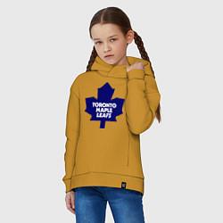 Толстовка оверсайз детская Toronto Maple Leafs цвета горчичный — фото 2