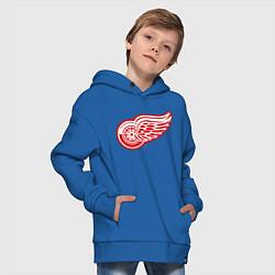 Толстовка оверсайз детская Detroit Red Wings цвета синий — фото 2
