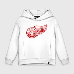 Толстовка оверсайз детская Detroit Red Wings цвета белый — фото 1
