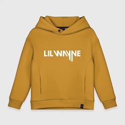 Толстовка оверсайз детская Lil Wayne цвета горчичный — фото 1