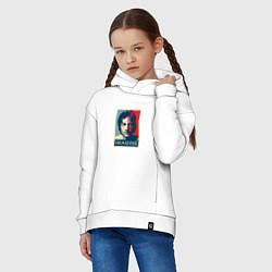 Толстовка оверсайз детская Lennon Imagine цвета белый — фото 2