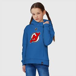 Толстовка оверсайз детская New Jersey Devils: Kovalchuk 17 цвета синий — фото 2