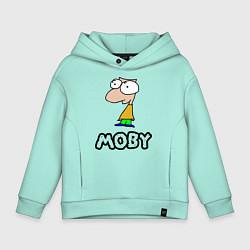 Толстовка оверсайз детская Moby цвета мятный — фото 1