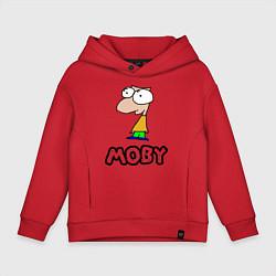 Толстовка оверсайз детская Moby цвета красный — фото 1