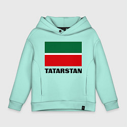 Толстовка оверсайз детская Флаг Татарстана цвета мятный — фото 1