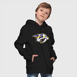 Толстовка оверсайз детская Nashville Predators: Radulov 47 цвета черный — фото 2