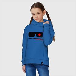 Толстовка оверсайз детская The Terminator цвета синий — фото 2
