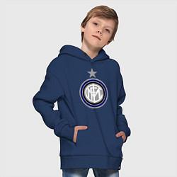 Толстовка оверсайз детская Inter FC цвета тёмно-синий — фото 2