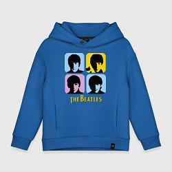 Толстовка оверсайз детская The Beatles: pop-art цвета синий — фото 1