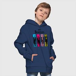 Толстовка оверсайз детская Walking Beatles цвета тёмно-синий — фото 2