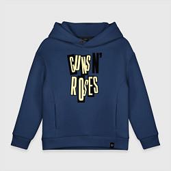 Толстовка оверсайз детская Guns n Roses: cream цвета тёмно-синий — фото 1