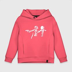 Толстовка оверсайз детская Daft Punk цвета коралловый — фото 1