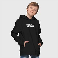 Толстовка оверсайз детская Need for Speed цвета черный — фото 2