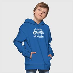 Толстовка оверсайз детская Stone Sour цвета синий — фото 2