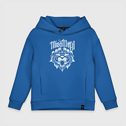 Толстовка оверсайз детская Miss May I: Angry Lion цвета синий — фото 1