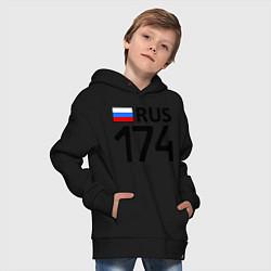 Толстовка оверсайз детская RUS 174 цвета черный — фото 2