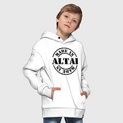 Толстовка оверсайз детская Made in Altai цвета белый — фото 2