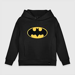 Толстовка оверсайз детская Batman цвета черный — фото 1