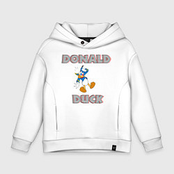 Толстовка оверсайз детская Дональд Дак цвета белый — фото 1