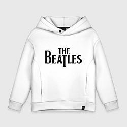 Толстовка оверсайз детская The Beatles цвета белый — фото 1