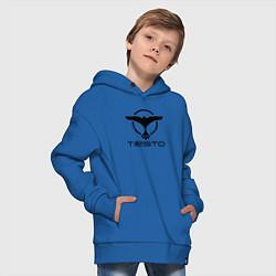 Толстовка оверсайз детская Tiesto цвета синий — фото 2