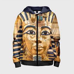 Толстовка на молнии детская Фараон цвета 3D-черный — фото 1