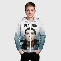 Толстовка на молнии детская Placebo: Brian Molko цвета 3D-меланж — фото 2
