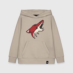 Толстовка детская хлопковая Phoenix Coyotes цвета миндальный — фото 1