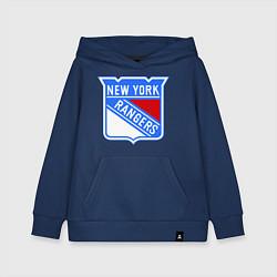 Толстовка детская хлопковая New York Rangers цвета тёмно-синий — фото 1