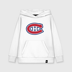 Толстовка детская хлопковая Montreal Canadiens цвета белый — фото 1