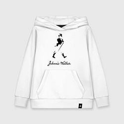 Толстовка детская хлопковая Johnnie Walker цвета белый — фото 1