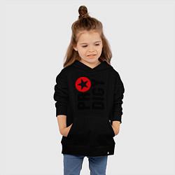 Толстовка детская хлопковая Prodigy Star цвета черный — фото 2