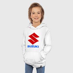 Толстовка детская хлопковая Suzuki цвета белый — фото 2
