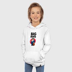 Толстовка детская хлопковая Big Boss / Начальник цвета белый — фото 2
