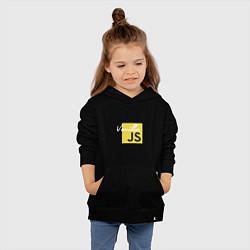 Толстовка детская хлопковая Vanilla JS цвета черный — фото 2
