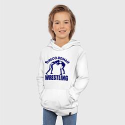 Толстовка детская хлопковая Greco-roman wrestling цвета белый — фото 2