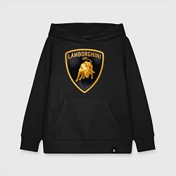 Толстовка детская хлопковая Lamborghini logo цвета черный — фото 1