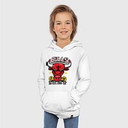 Толстовка детская хлопковая Chicago Bulls est. 1966 цвета белый — фото 2
