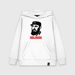 Толстовка детская хлопковая Fidel Castro цвета белый — фото 1