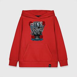 Толстовка детская хлопковая Guns n Roses: illustration цвета красный — фото 1