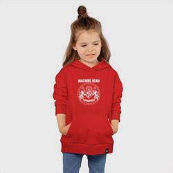 Толстовка детская хлопковая Machine Head MCMXCII цвета красный — фото 2