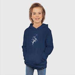 Толстовка детская хлопковая Звездный Стрелец цвета тёмно-синий — фото 2