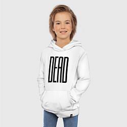Толстовка детская хлопковая Long Dead цвета белый — фото 2
