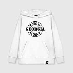Толстовка детская хлопковая Made in Georgia (сделано в Грузии) цвета белый — фото 1