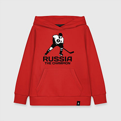 Детская толстовка-худи Russia: Hockey Champion