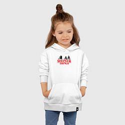 Толстовка детская хлопковая STRANGER THINGS цвета белый — фото 2