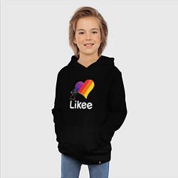 Детская хлопковая толстовка с принтом Likee LIKE Video, цвет: черный, артикул: 10202186706029 — фото 2