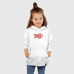 Толстовка детская хлопковая Song BAD цвета белый — фото 2