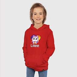 Толстовка детская хлопковая Likee LIKE Video цвета красный — фото 2