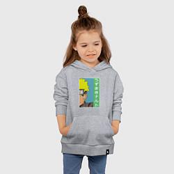 Толстовка детская хлопковая Наруто цвета меланж — фото 2